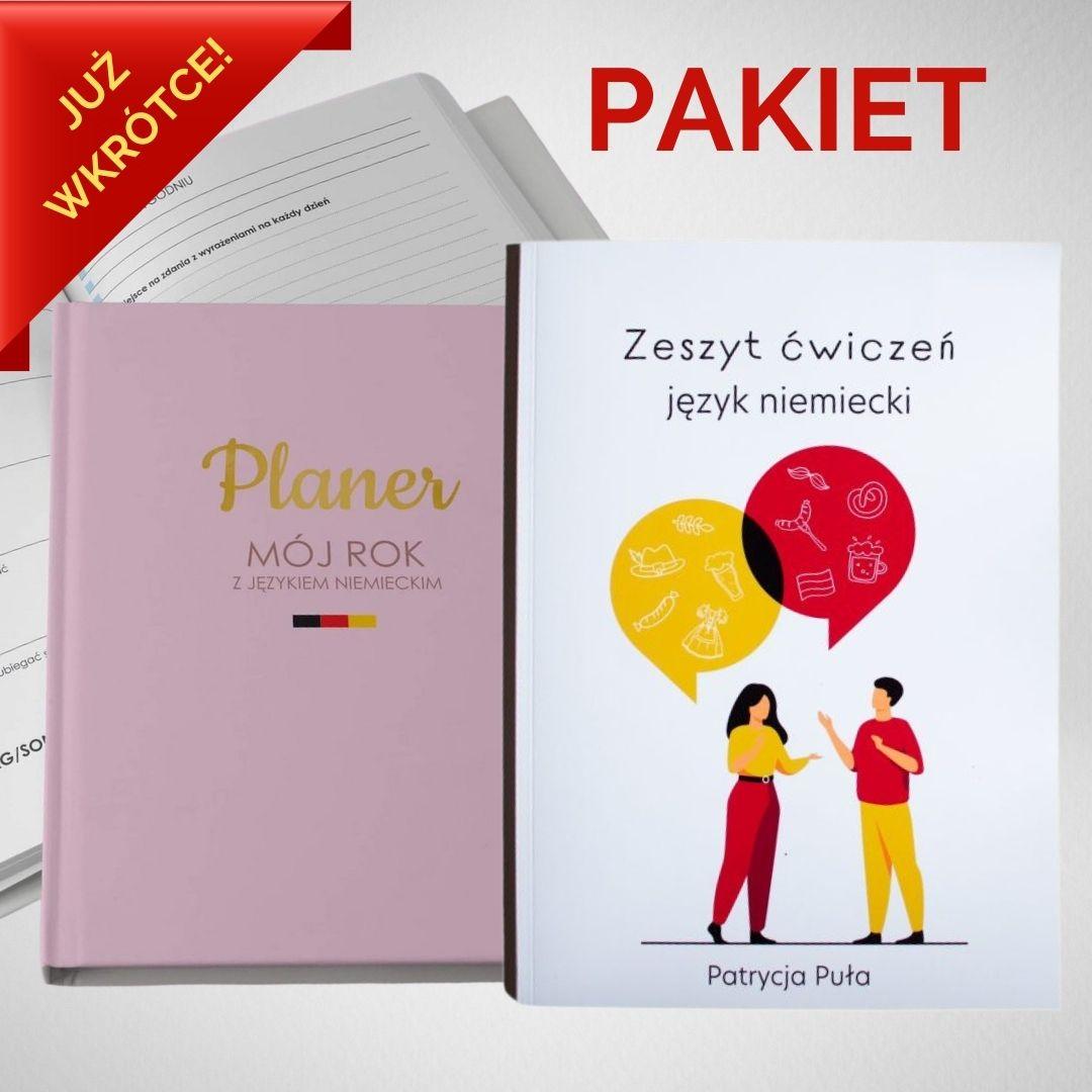 PAKIET: Planer + Zeszyt do nauki j. niemieckiego